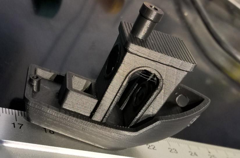 Benchy gedruckt mit Extrudr Greentec in 0,1 mm Schichten - bissl Stringing