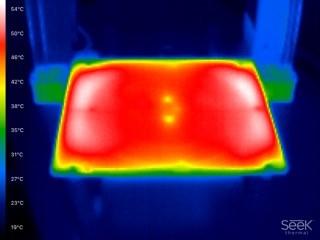 Wärmebild 2-Zonen Herizbett bei 55°C