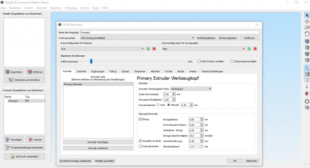 Neu in Version 3.1.1: deutsche Benutzeroberfläche